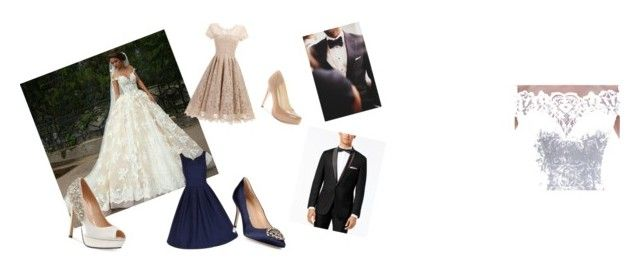 """My wedding"" by oturner3 ❤ liked on Polyvore featuring Pink Paradox London, Jessica Simpson, Manolo Blahnik and INC International Concepts"