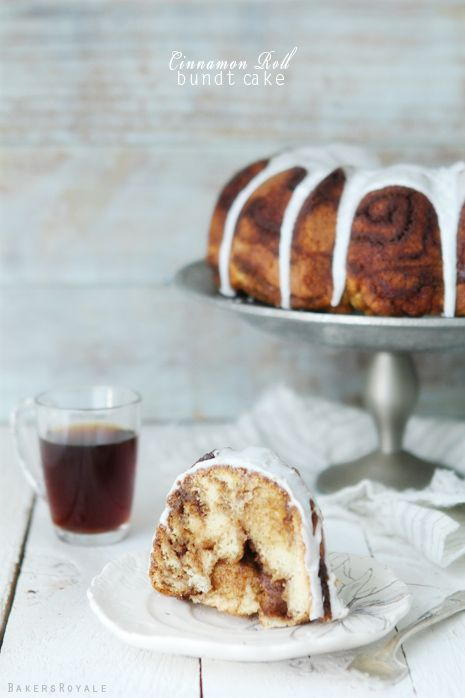 Cinnamon Roll Bundt Cake via @Bakers Royale