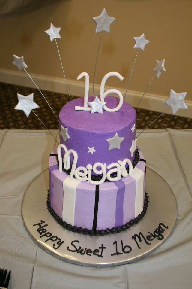 Sweet 16 Birthday Cake -