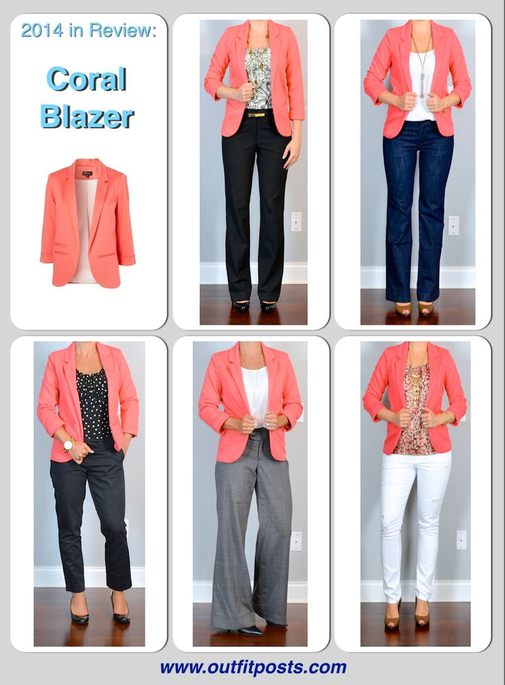 Outfit Posts: 2014 in review - outfit posts: coral blazer - 5 ways