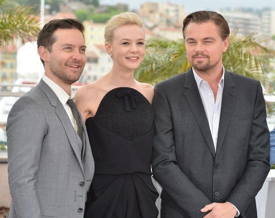 Leonardo DiCaprio, Carey Mulligan, and Tobey Maguire.