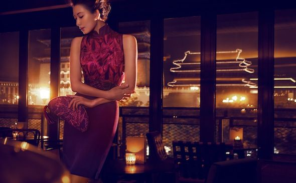 Model/actress Lin Chi Ling for Shanghai Tang (luxury Chinese fashion brand).