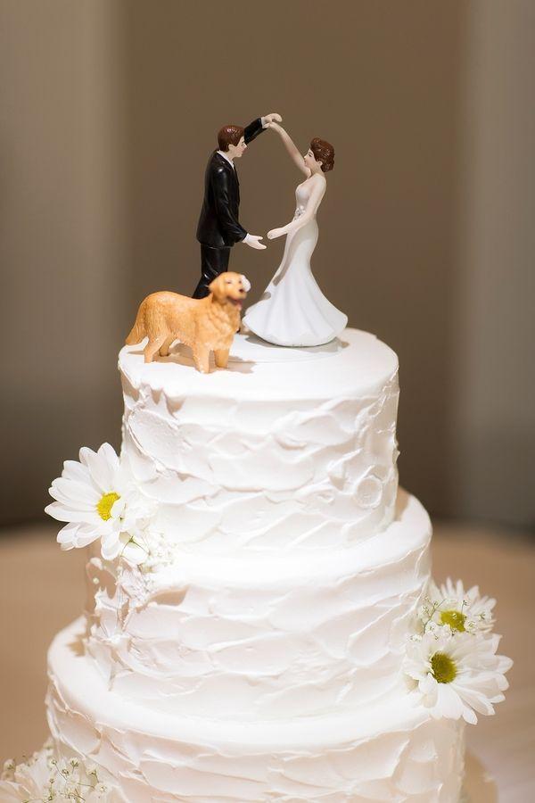Newlyweds Golden Retriever Celebrate Old Christ Church Wedding Wedding Cakes Dog Wedding Cake Toppers Big Wedding Cakes