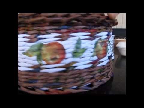 Decoupage para la cesteria. Parte 2. - YouTube