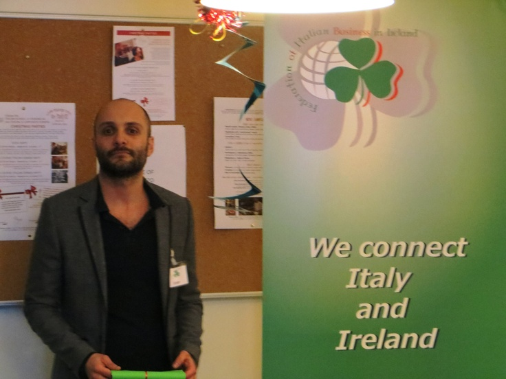 The Federation of Italian Business in Ireland hosts regular B2B meetings to encourage relations between Italy and Ireland, including one on 28 February as part of The Gathering    http://www.thegatheringireland.com/Create-a-Gathering/Get-inspired/Get-Inspired-Blog/February-2013/Giuseppe-Crupi.aspx