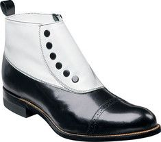 Stacy Adams Madison 00026 - Black/White Kid Leather with FREE Shipping & Exchanges. Breathtaking ankle boot with kid leather upper and leather sole.