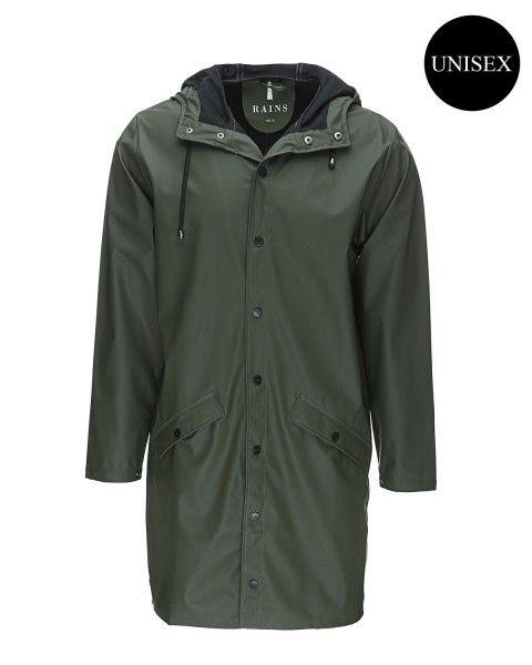 Rains regnjakke, army, str. L/XL (699 kr.) https://www.stylepit.dk/rains-army-long-jacket-210675-30