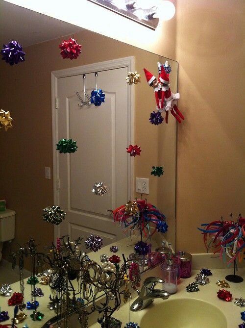 Elf on the shelf drcorates elf on the shelf pinterest for Elf on the shelf bathroom ideas