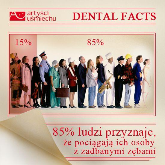 Zdrowe zęby są sexy! 85% ludzi przyznaje, że pociągają ich osoby z zadbanymi zębami :)