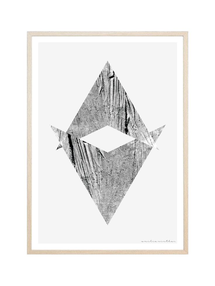 Trianglular Wood Print Graphic Design Wall-Art by ProjectOGrahipcs on Etsy