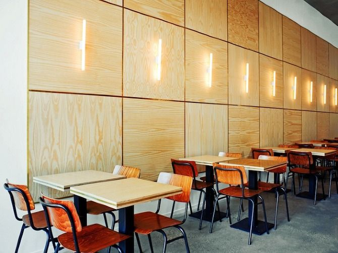 Plywood interior done right. Conoce http://www.araucoply.com/default.asp