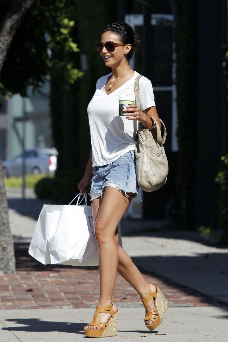 Emmanuelle Chriqui denim shorts