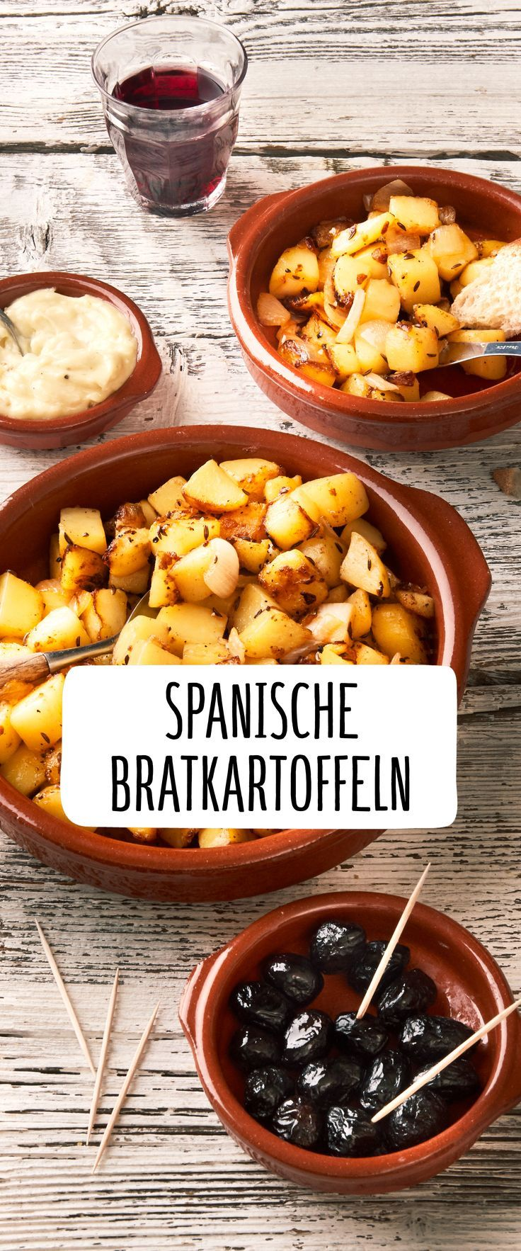 Spanische Bratkartoffeln mit Aioli | Rezept in 2018 | Leckere ...