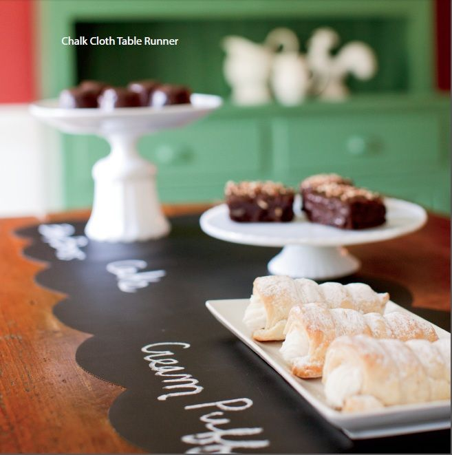Chalk Cloth Table Runner