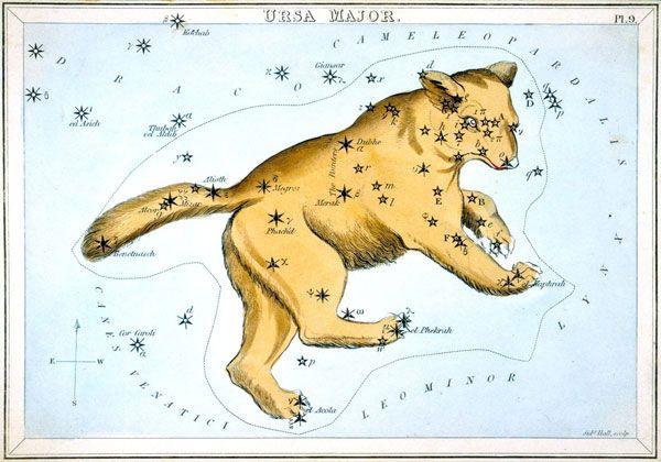 IAU Standardizes 212 Traditional Star Names:  Ursa Major from Urania's Mirror