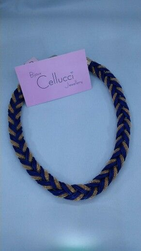 Cellucci Jewellery navy & gold braided necklace #fashion #necklace #montreal
