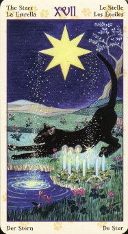 Tarot of the Pagan Cats. Here's a deck that I bought recently and really like. Only complaint: the title is a bit redundant, isn't it?  We all know that cats are pagans, right?