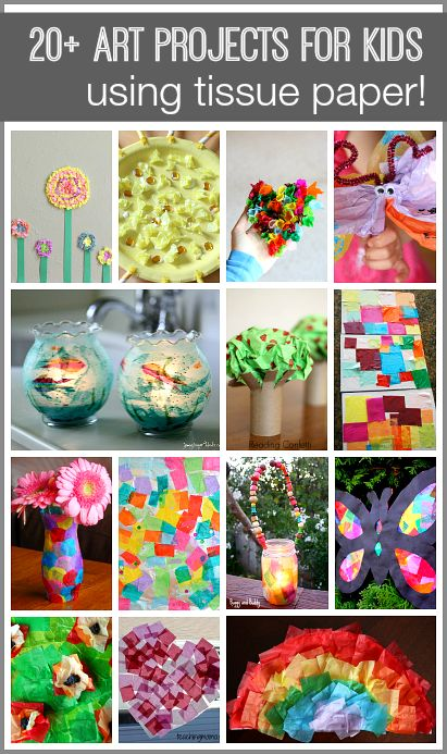 Over 20 Art Projects for Kids Using Tissue Paper