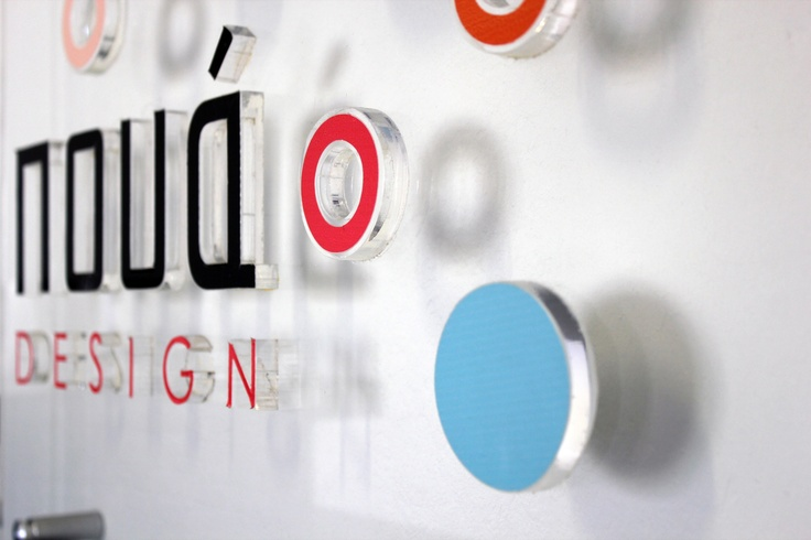 Plexiglass sign for Poua Design