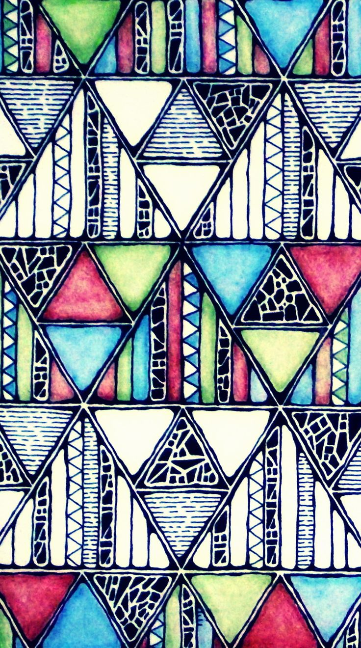 Congruent or similar shapes?  Rebecca Blair; Jungle Pattern, Art Piece in Pen and Pencil, Close Up