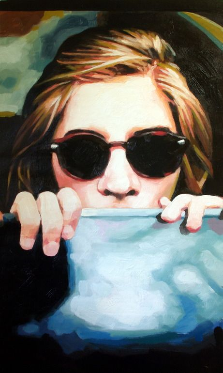 "thomas saliot; Oil, Painting ""Car window"""