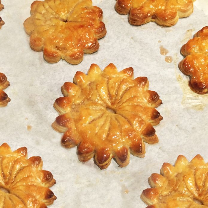 Caramelised pineapple pies from Rachel Khoo's Kitchen notebook Melbourne. This recipe is made with cream cheese pastry, which works well for both sweet and savoury pies because it has so little sugar. #RKKNM