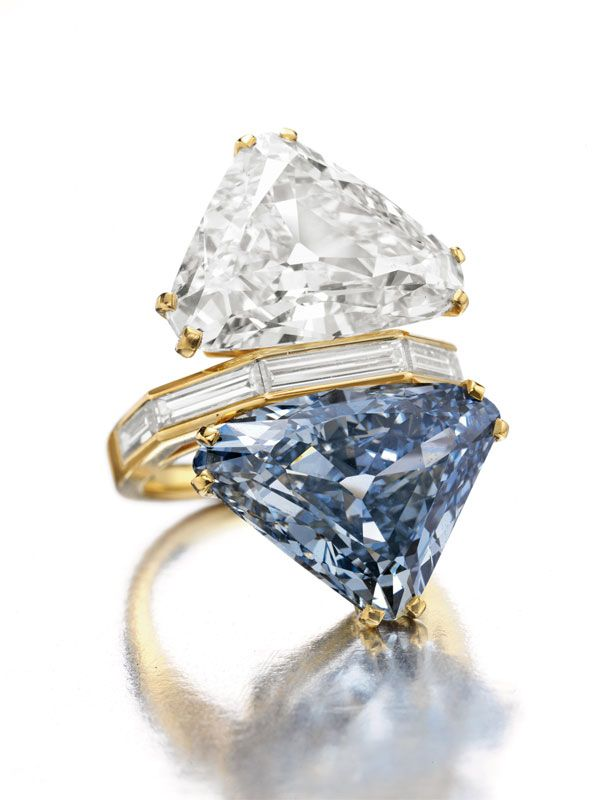 the bvlgari blue diamond u2013 twostone diamond ring the ring features two extremely precious stones a colorless diamond of carats paired