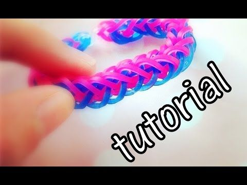 Tutorial - bransoletka warkocz (french braid) - Rainbow Loom - YouTube