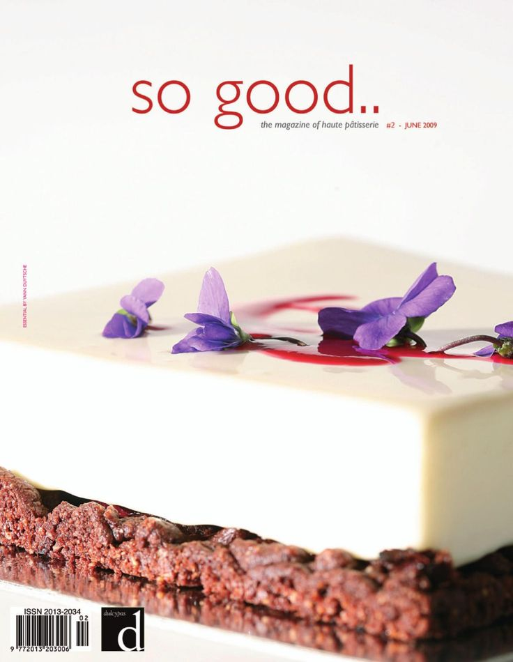 'so good' is a biannual publication in english aimed at professionals of sweet and savory pastry, the chocolate and ice cream industry, as well as the world of dessert in general.
