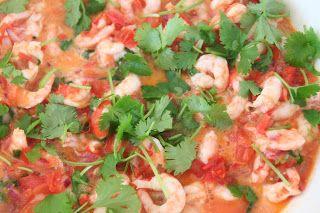 Reker med salsa fresca - Mat på bordet