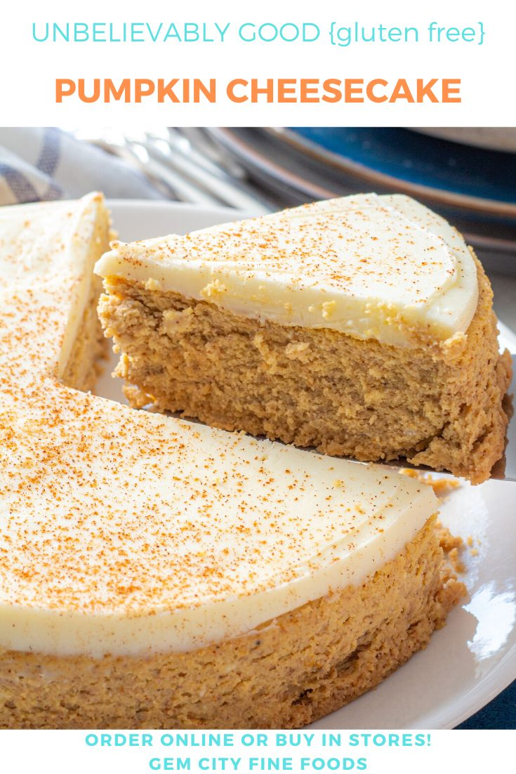 Wow. This pumpkin cheesecake is not only gluten free, it