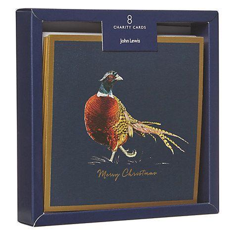 Buy John Lewis Foil Pheasant Charity Christmas Cards, Pack of 8 Online at johnlewis.com