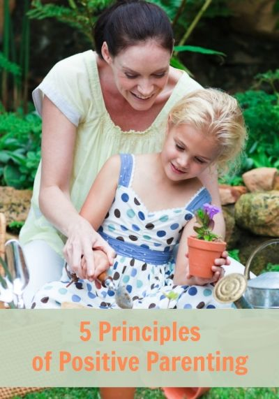 The foundation of Positive Parenting rests on five principles. These principles go hand in hand to help you build a strong bond with your children and to position you as the effective leader your child needs throughout childhood.