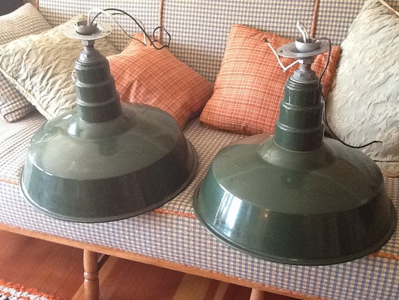 Pair Large Mid Century Industrial Gas Station by OldBeaverAntiques, $195.00