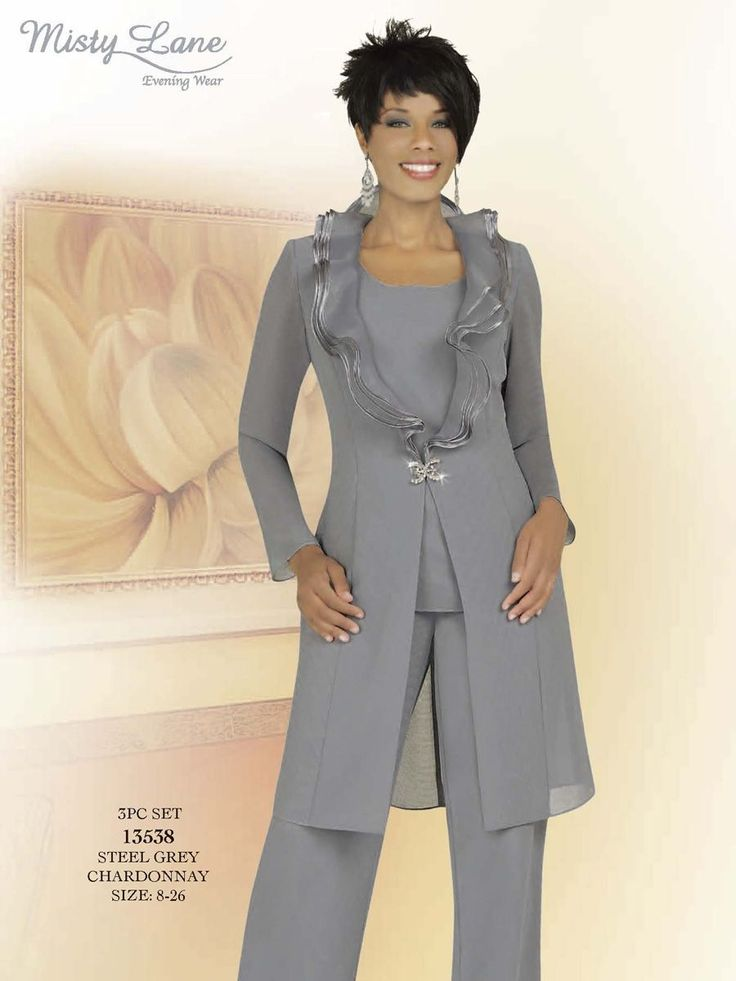 My daughter is getting married in May. As the mother of the bride, is it appropriate for me to wear a pantsuit? This is what I had in mind...something with a l…
