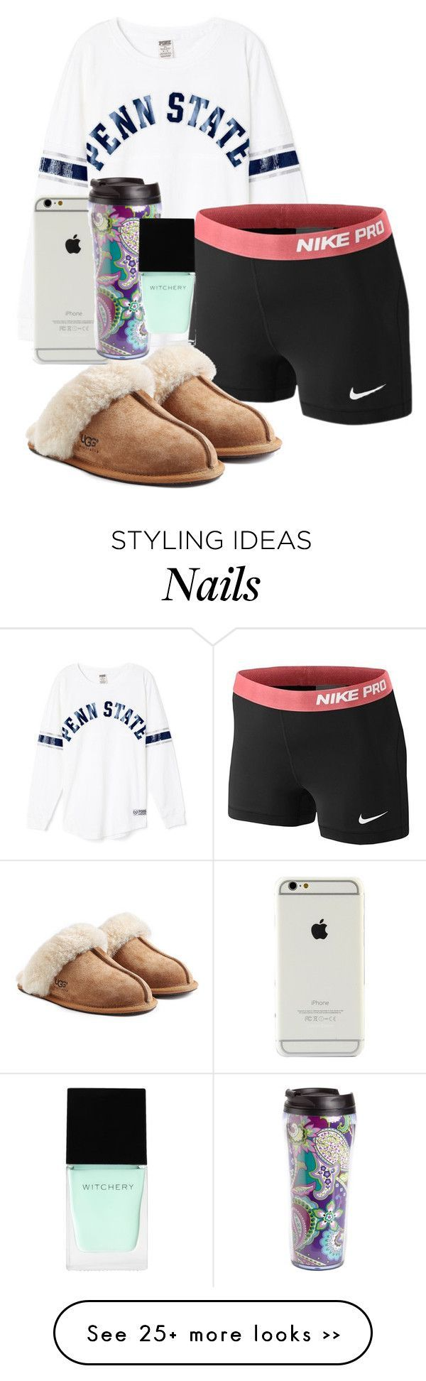 """when with bae"" by sofiaestrada on Polyvore featuring NIKE, UGG Australia, Vera Bradley and Witchery"
