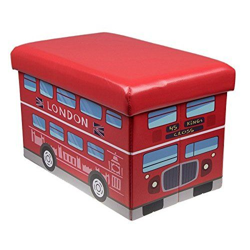 Storage Toy Padded Kids Box Bench Seat Safari Bus Childrens Play Chest: Amazon.co.uk: Toys & Games