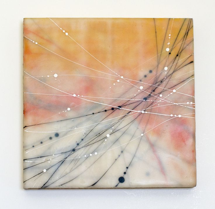 The One Hundred - Gossamer 17.Encaustic. Katie Gutierrez.