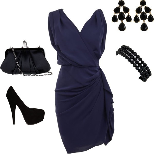 """Navy Dress"" by sannroberts on Polyvore"
