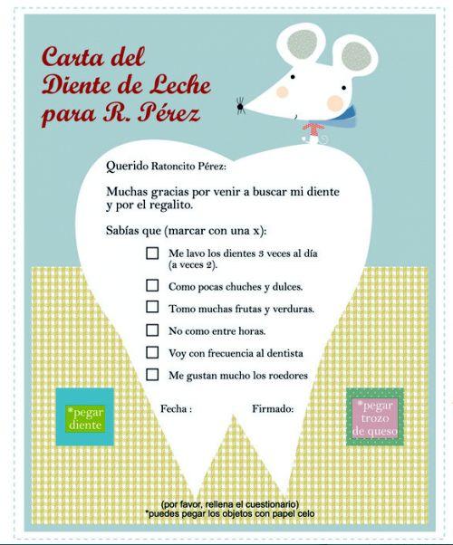 Mamás creativas: Carta para el ratoncito Pérez