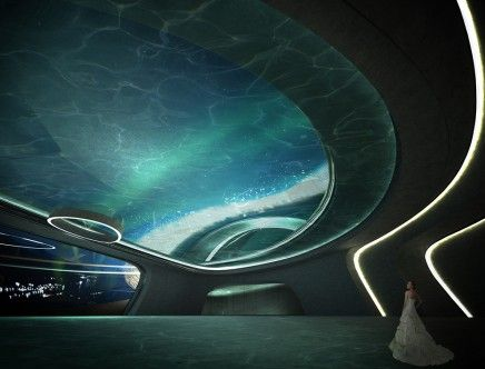 "Jensen LIU & Sally HSU, ""Aurora Borealis Arctic Observatory: The Wings of the Dawn Goddess."""