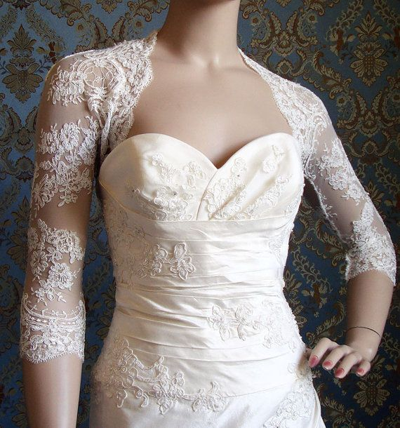 Lace jacket to go over wedding dress