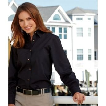 8996 UltraClub Ladies' Sanded Gabardine Long-Sleeve Shirt. Buy at wholesale price. Buy at wholesale price.