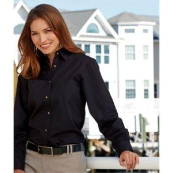 8996 UltraClub Ladies' Sanded Gabardine Long-Sleeve Shirt. Buy at wholesale price. Buy at wholesale price.