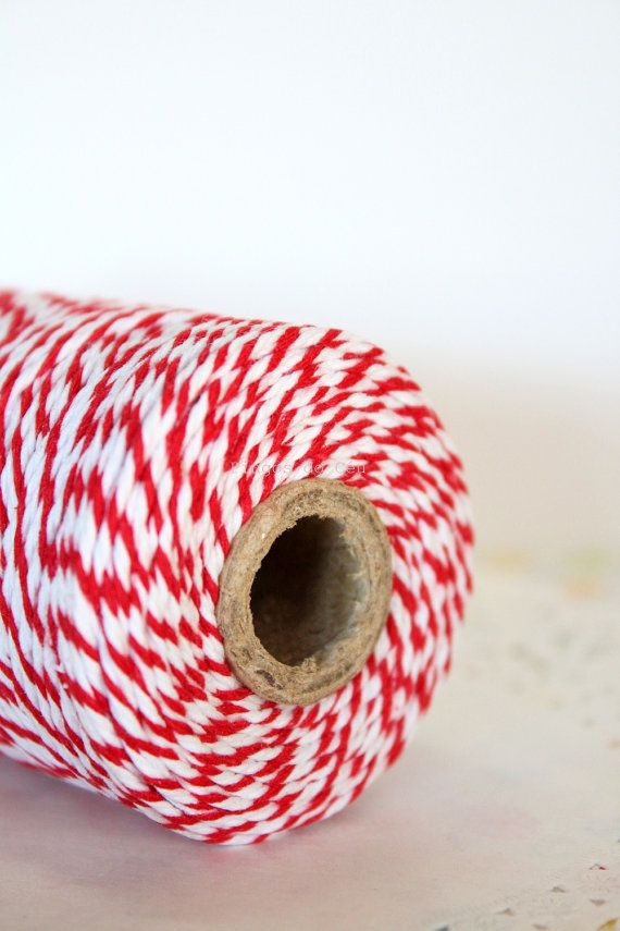Baker's Twine Red  100 Yards 100 meters. For your by pingosdoceu
