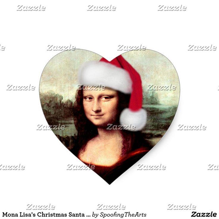 Mona Lisa's Christmas Santa Hat  Sticker by #SpoofingTheArts ~ #Monalisa #gravityx9 #christmas #christmassticker #artparody