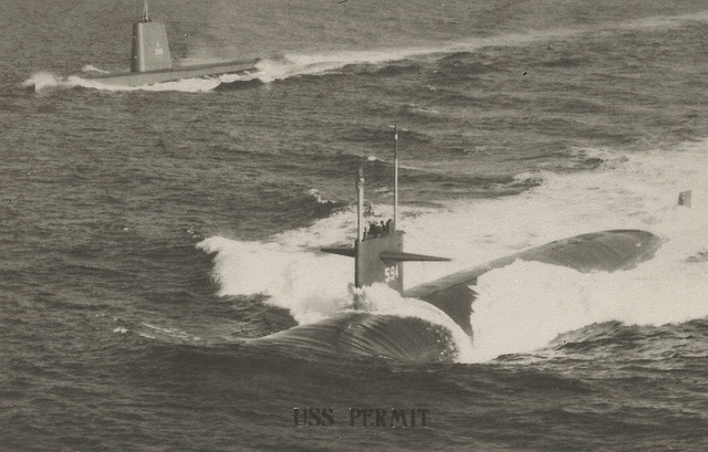 USS PERMIT US Navy Permit Class Nuclear Submarine SSN-594 Fast Attack Submarine became the lead ship of her class of submarines