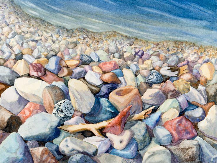 Stone Beach - I have rocks in my head some days. www.gaylehalliwell.com