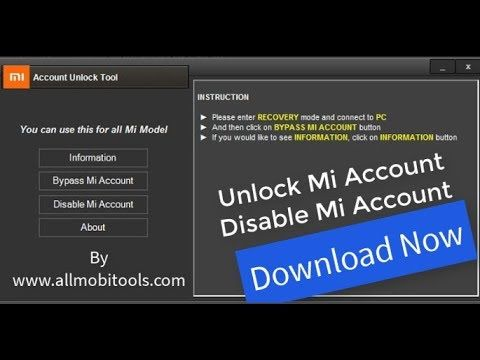 Step by step guide How To Unlock Mi Account Cloud Account