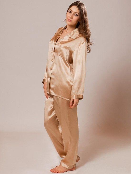 women's silk pajamas #luxurynightwear